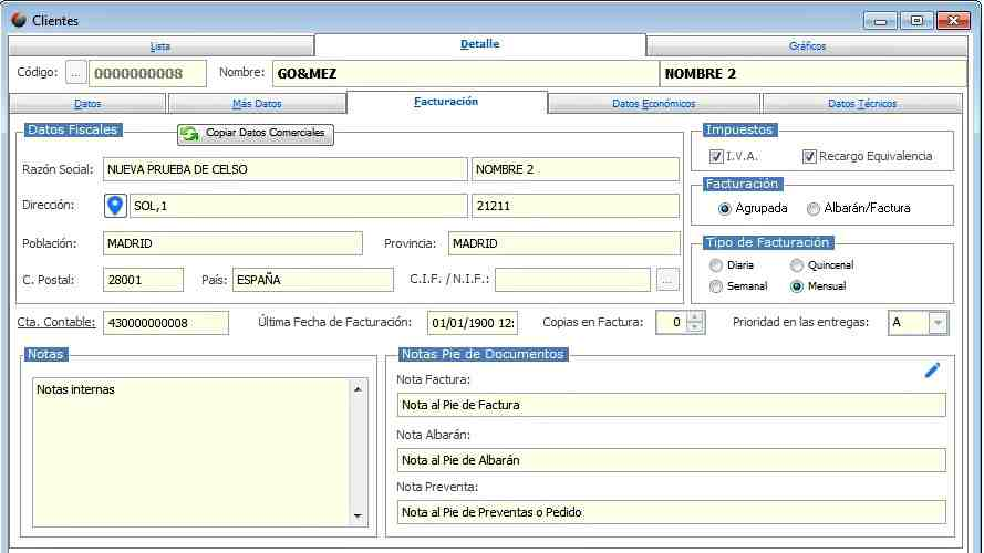 crm software datos de cliente